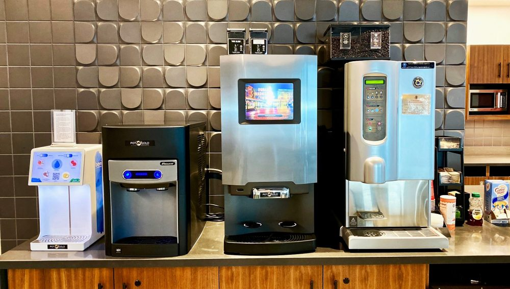Coffee Brewers on office counter